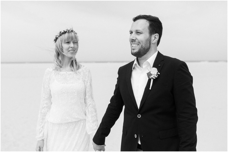 Hochzeitsfotos am Strand von Juist