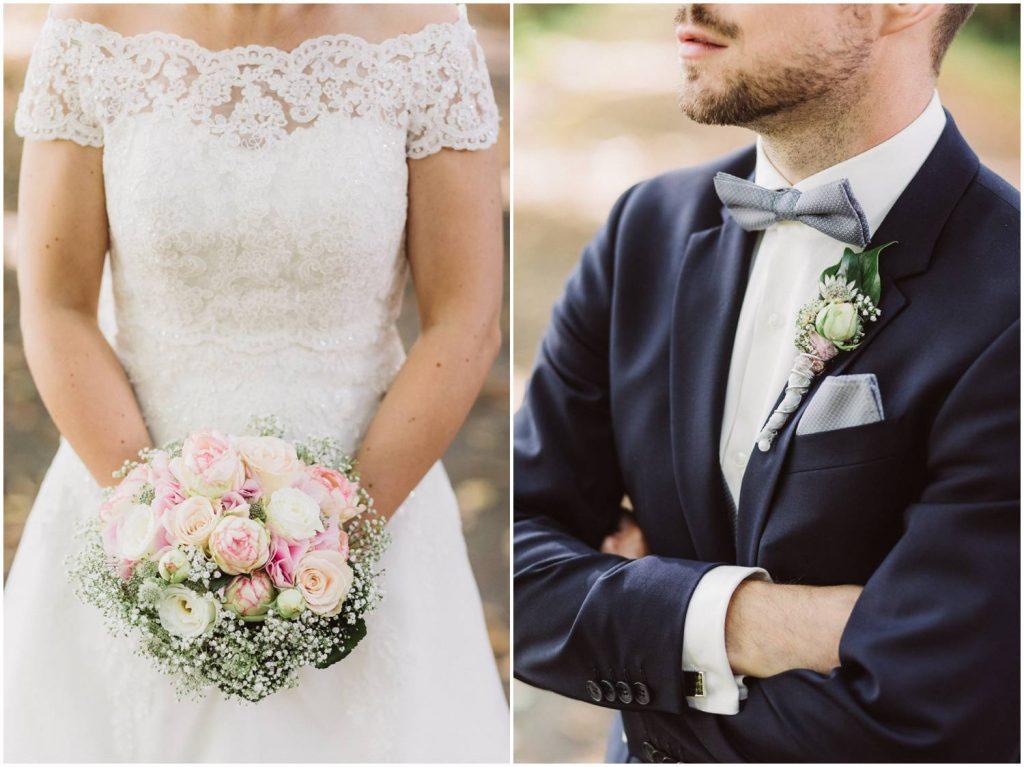 Brautpaar Details bei einer Hochzeit