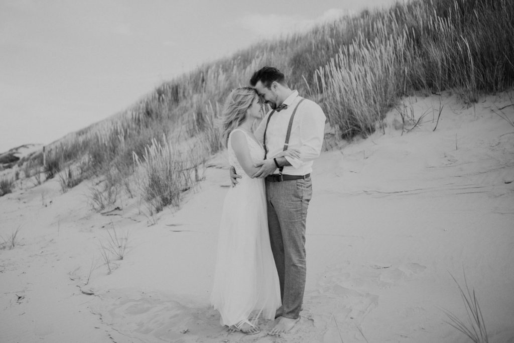 Hochzeitspaar am Strand Baltrum