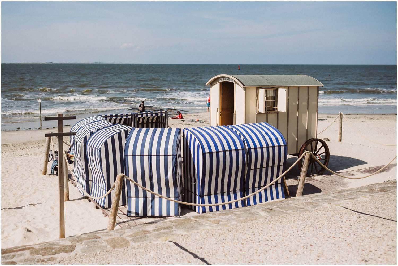 Der historische Badekarren am Strand Norderney