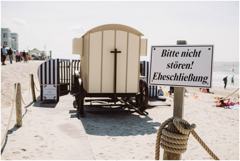 Eheschließung am Badekarren Norderney