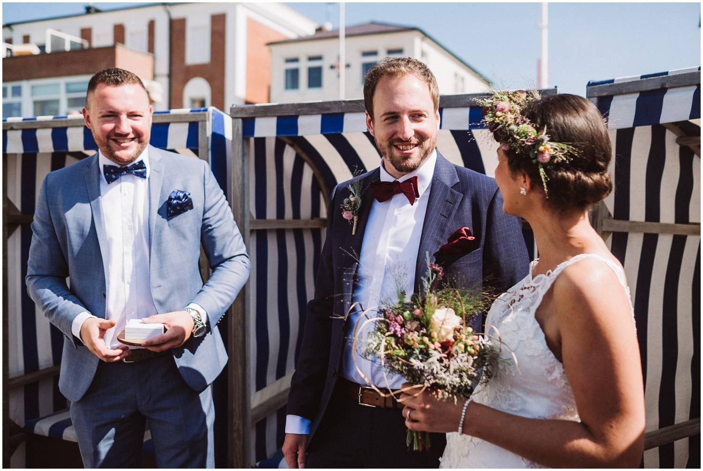 Hochzeit am Badekarren auf Norderney