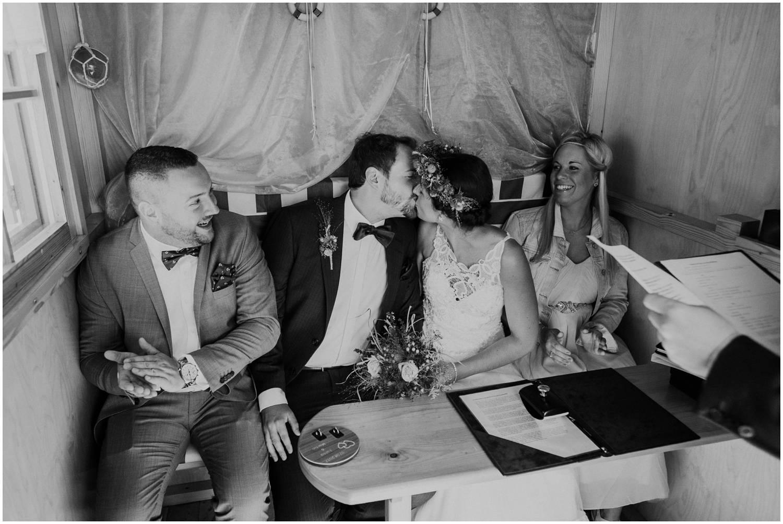 Hochzeitskuss auf Norderney