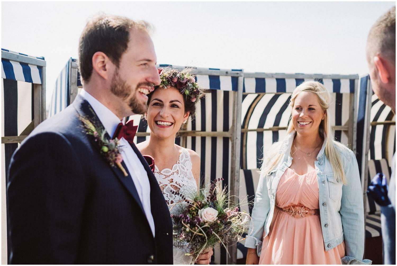 Hochzeitspaar am Strand Norderney