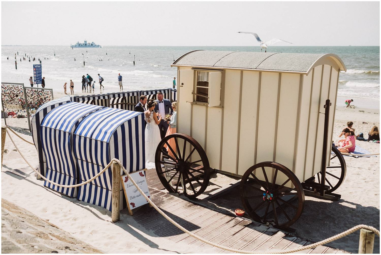 Historischer Badekarren auf Norderney