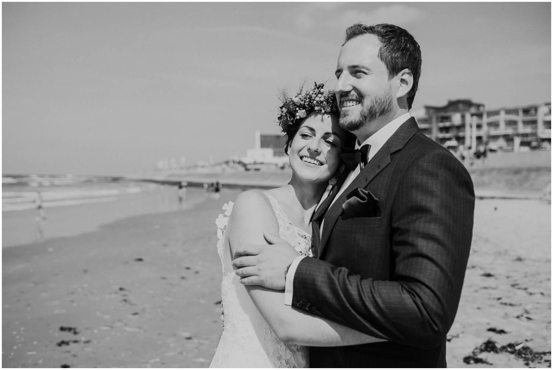 Hochzeitsfoto am Strand von Norderney