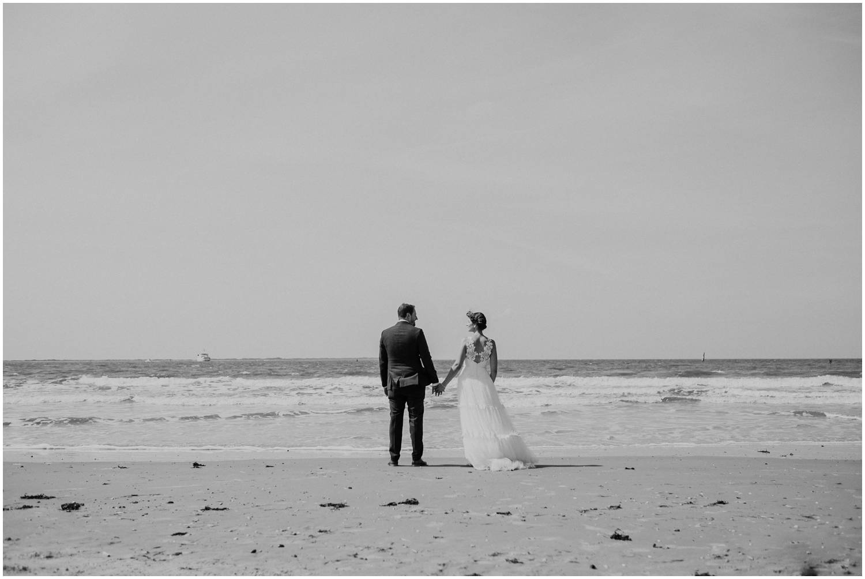 Hochzeit auf Norderney - Brautpaar an der Nordsee