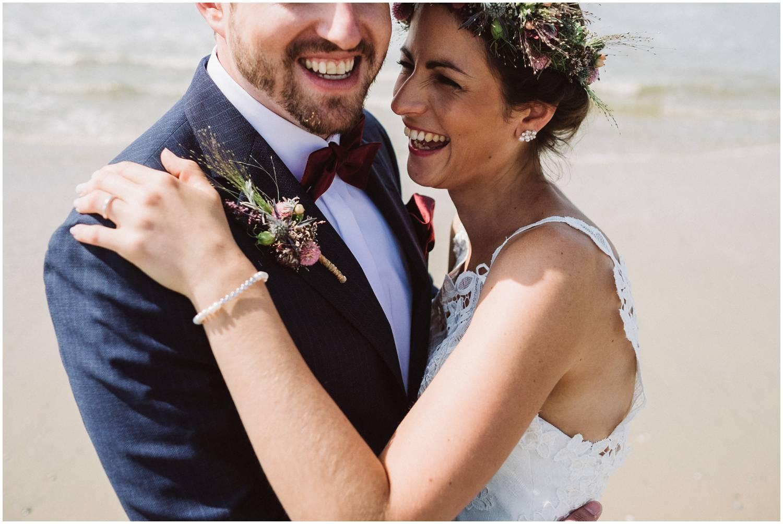 Brautpaar am Weststrand Norderney