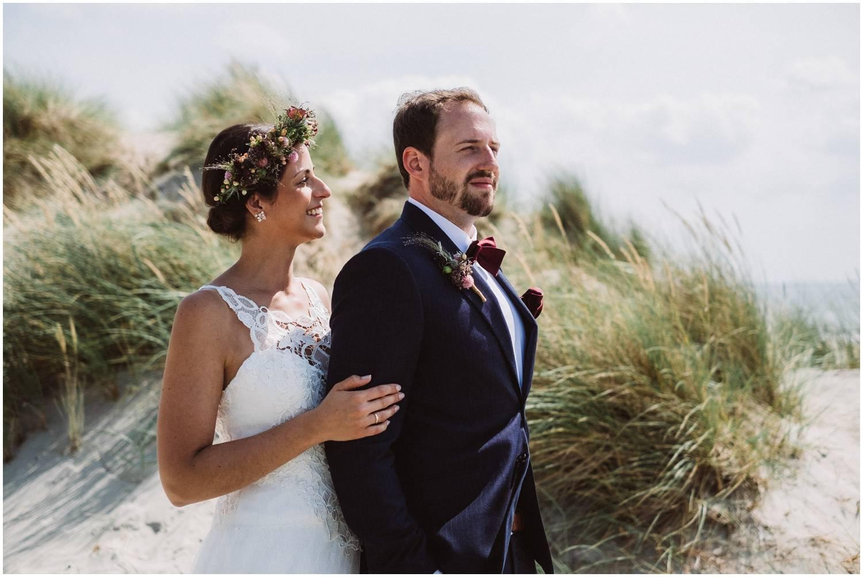 Brautpaar an der weissen Düne Norderney