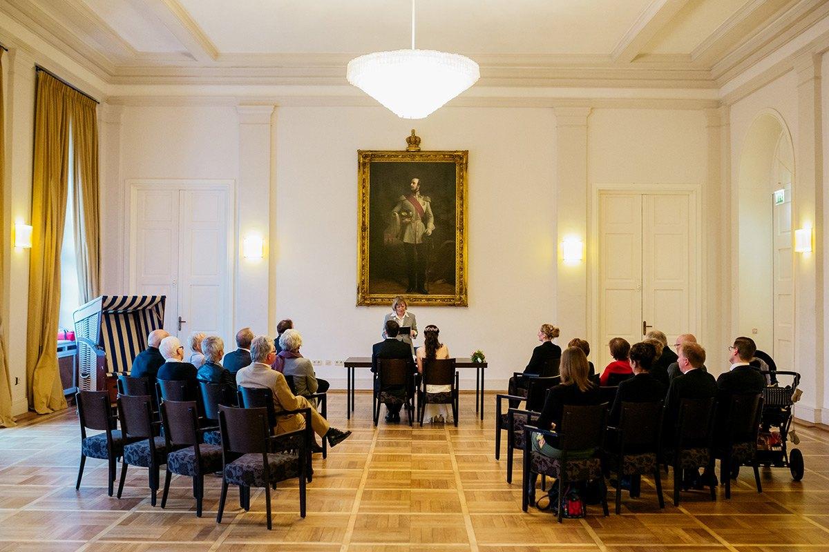 Hochzeit im weißen Saal im Conversationshaus auf Norderney