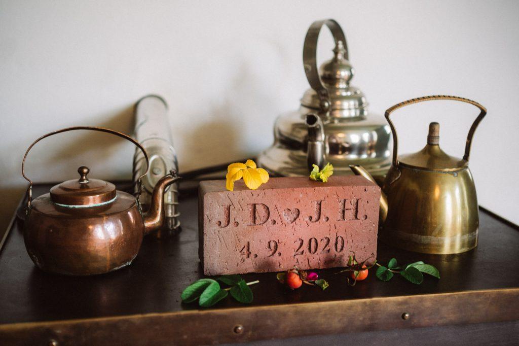 Backstein bei einer Hochzeit im Seemannshus Langeoog