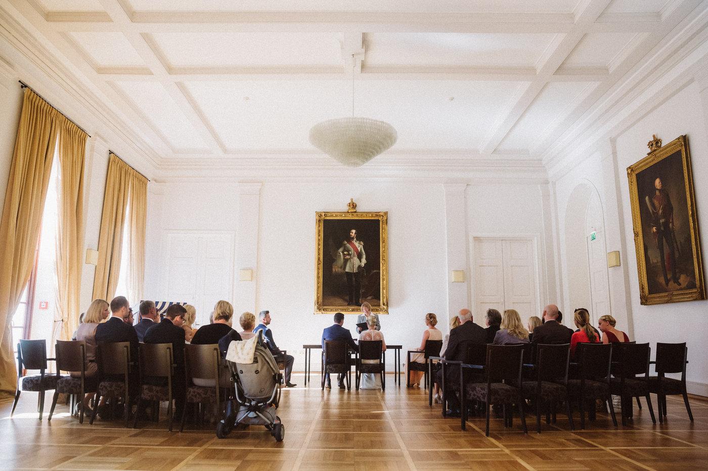 Hochzeit im weissen Saal des Conversationshaus am Marktplatz von Norderney